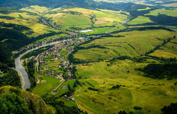 Dunajec Art Print featuring the photograph Aerial View by Pati Photography