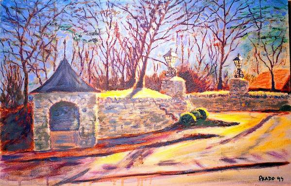 Oil Art Print featuring the painting Afternoon At Clayton Road by Horacio Prada