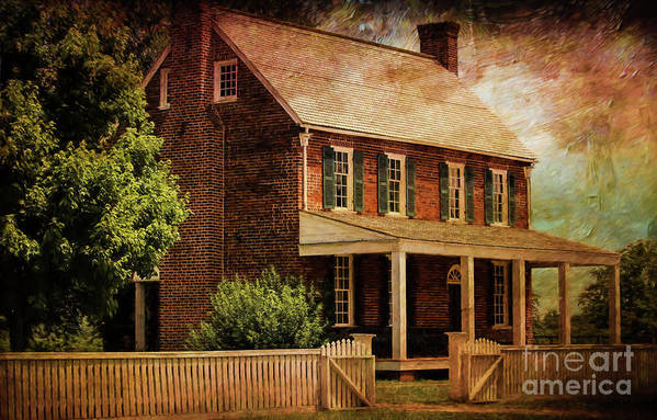 Appomattox Court House Art Print featuring the digital art Appomattox Court House By Liane Wright by Liane Wright