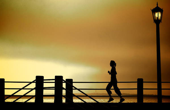 Jogging Art Print featuring the photograph Battery Days by Patrick Biestman