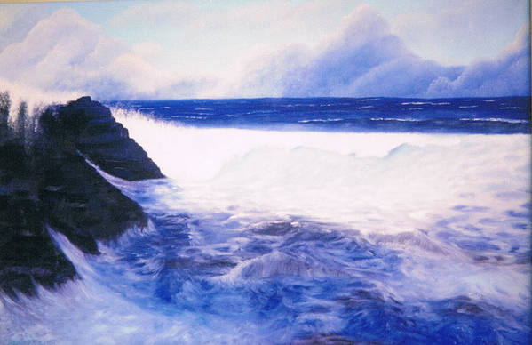 Sea Art Print featuring the painting Blue Day by Brett McGrath