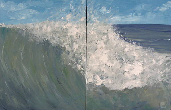 Ocean Art Print featuring the painting Breaker Ll by Pete Maier