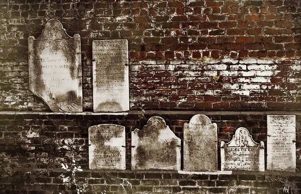 Cemetary Art Print featuring the photograph Cemetary Wall by JAMART Photography