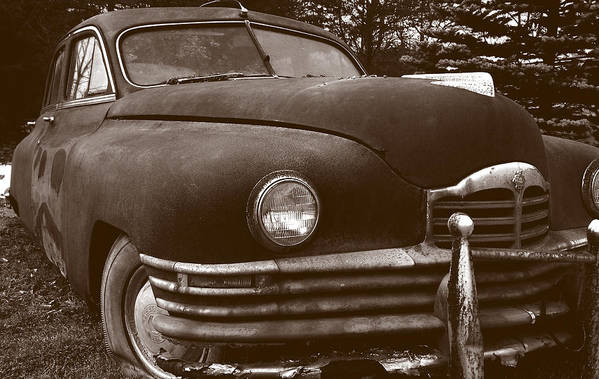 Old Car Art Print featuring the photograph Chocolate Moose by Jean Macaluso