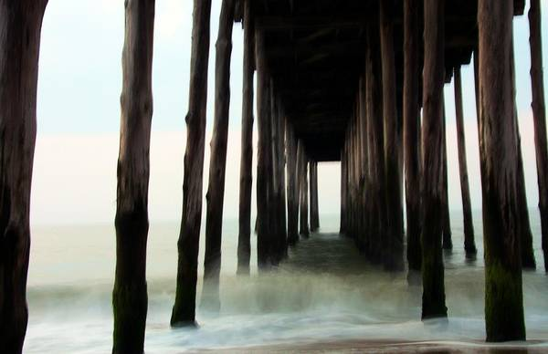 Pier Art Print featuring the photograph Churning by Mitch Cat