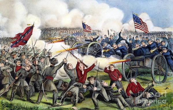 1863 Art Print featuring the photograph Civil War: Gettysburg, 1863 by Granger