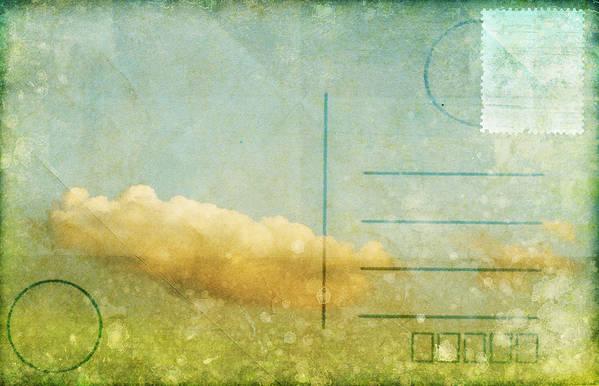 Address Art Print featuring the photograph Cloud And Sky On Postcard by Setsiri Silapasuwanchai