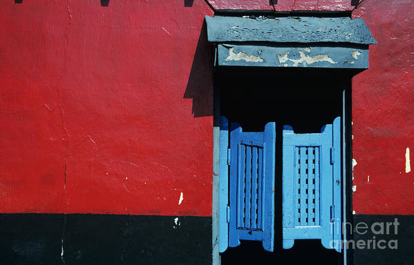 Architecture Art Print featuring the photograph Colorful Caribbean Door by Larry Dale Gordon - Printscapes