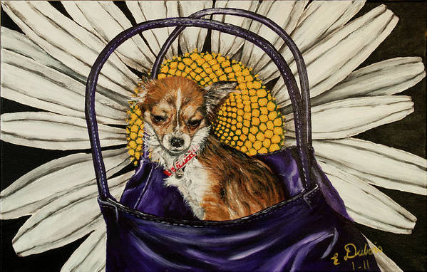 Dog Art Print featuring the painting Daisy by Elisabeth Dubois