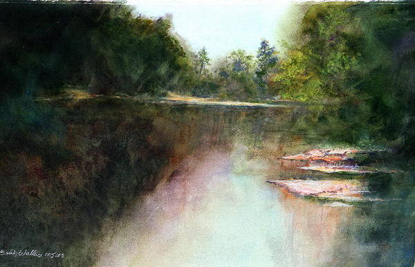 Rivers Art Print featuring the painting Deep In Desota by Bobby Walters