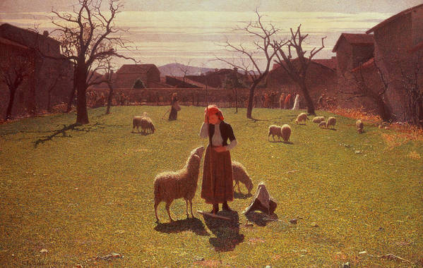 Deluded Art Print featuring the painting Deluded Hopes by Giuseppe Pellizza da Volpedo
