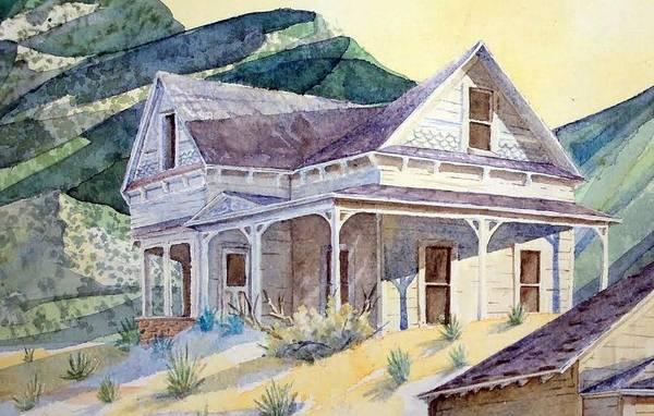 Landscape Desert Art Print featuring the painting Desert Ghost by Steven Holder
