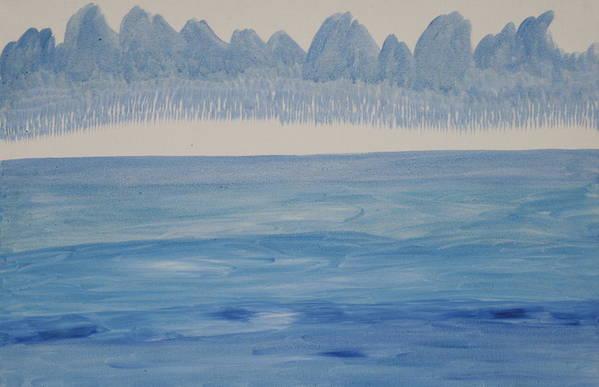 Art Print featuring the painting Drying Layers by Prakash Bal Joshi