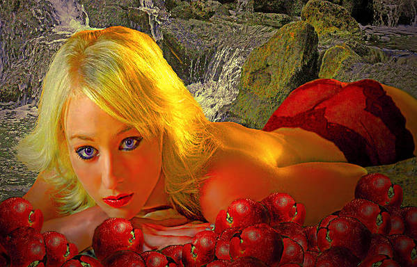 Apple Art Print featuring the photograph Eve In The Garden by Jeff Burgess