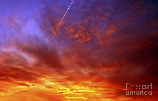 Sunset Art Print featuring the photograph Exploded Sky by Michal Boubin
