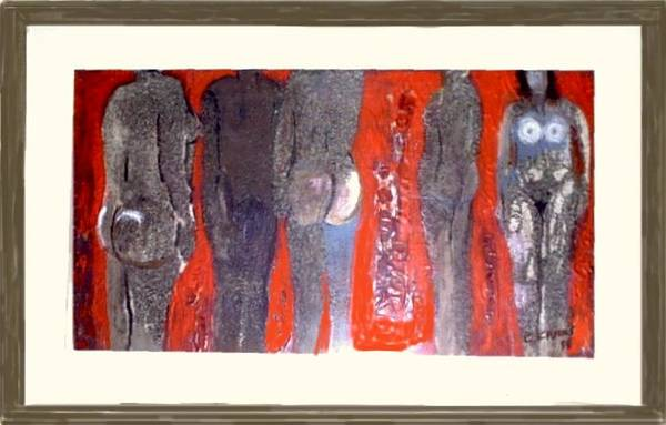 Nude Art Print featuring the painting Figuras 5 by Carlos Camus