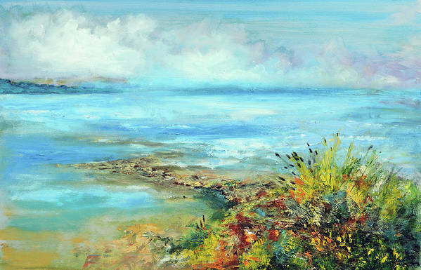 Fine Art Art Print featuring the painting Florida Shore by Philip Lodwick Wilkinson