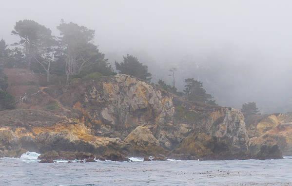 Fog Art Print featuring the photograph Foggy Day At Point Lobos by Derek Dean