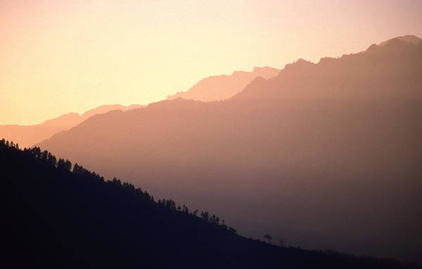 Langtang Art Print featuring the photograph Golden Mountains by Patrick Klauss