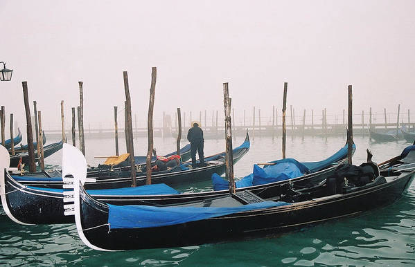 Landscape Art Print featuring the photograph Gondolas by Kathy Schumann