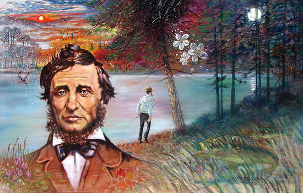 Henry David Thoreau Art Print featuring the painting Henry David Thoreau by John Lautermilch