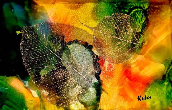 Abstract Art Print featuring the mixed media High On Nature by Susan Kubes