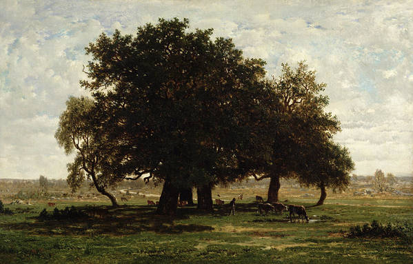 Holm Art Print featuring the painting Holm Oaks by Pierre Etienne Theodore Rousseau