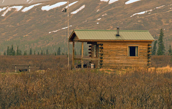 Log Cabin Art Print featuring the photograph Home Sweet Fishing Home In Alaska by Denise McAllister