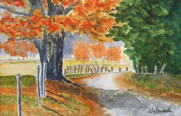 Autumn Art Print featuring the painting Indian Summer by Ally Benbrook