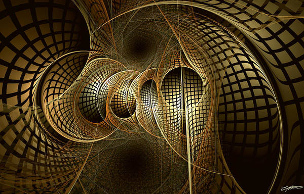 Abstract Art Print featuring the digital art Issuance Of The Metropole by Casey Kotas