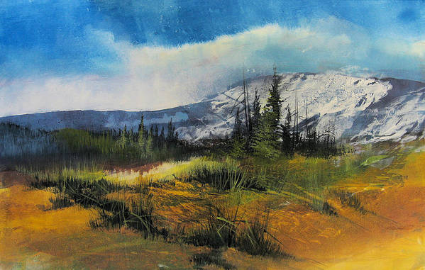 Landscape Art Print featuring the painting Landscape by Robert Carver