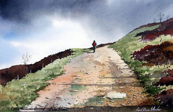 Landscape Art Print featuring the painting Lane To Quarry Pole Moor by Paul Dene Marlor