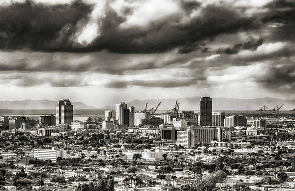 Cityscape Art Print featuring the photograph Long Beach City View by Joseph Hollingsworth