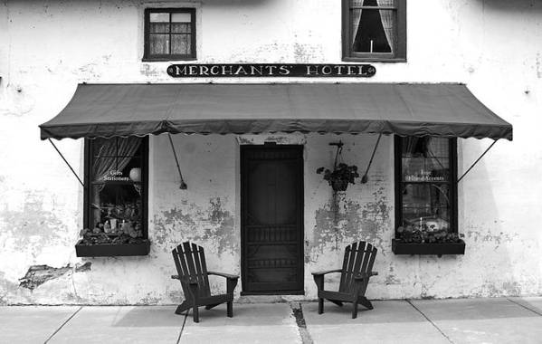 Hotel Art Print featuring the photograph Merchants by Bill Morgenstern