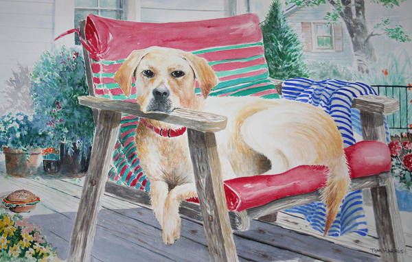 Dogs Art Print featuring the painting My Molly by Tom Harris