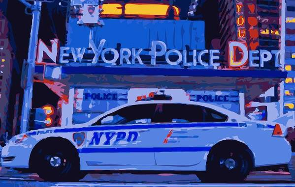 Nypd Art Print featuring the photograph Nypd Color 16 by Scott Kelley