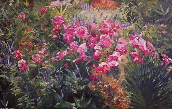Konkol Art Print featuring the painting Olbrich Garden Series - Garden 1  by Lisa Konkol
