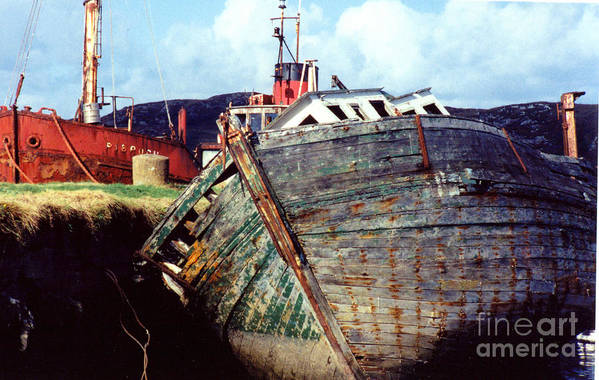 Old Boat Art Print featuring the photograph Old Boat by PJ Cloud