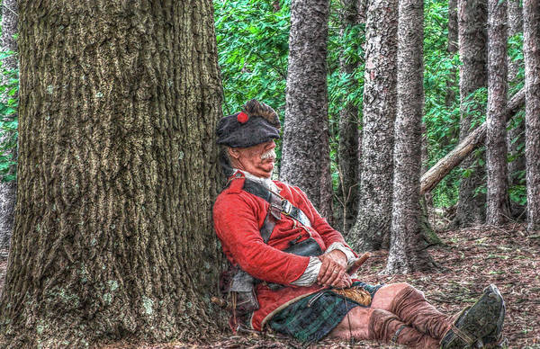 Royal Americans Art Print featuring the digital art Rest From The March Royal Highlander by Randy Steele