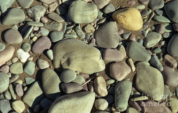 River Rock Art Print By Richard Rizzo