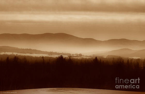 Landscape Art Print featuring the photograph Route 120 Vermont View by Deborah Benoit