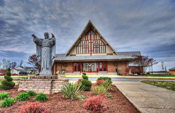 Hdr Art Print featuring the photograph Sacred Heart Church by E R Smith