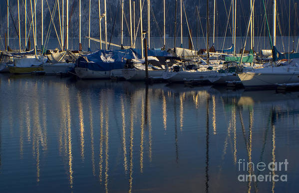 Mast Art Print featuring the photograph Sailboat Reflections by Idaho Scenic Images Linda Lantzy