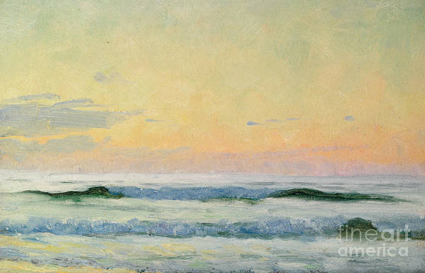 Seascape Art Print featuring the painting Sea Study by AS Stokes