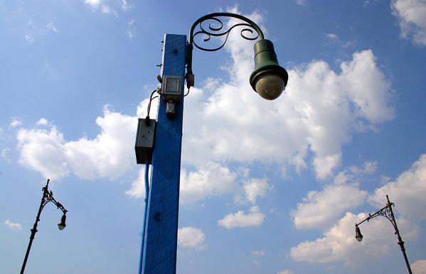 Street Lamp Art Print featuring the photograph Sheepshead Street Lamps by Bryan Hochman