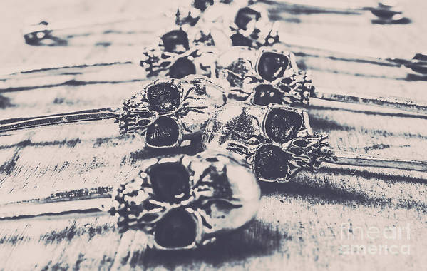 Skulls Art Print featuring the photograph Skull Fashion Accessories by Jorgo Photography - Wall Art Gallery