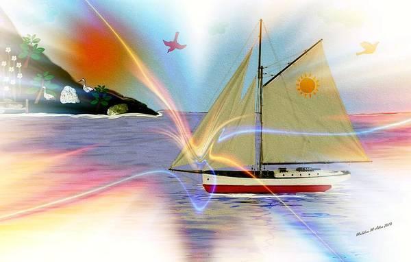 Smudgeart Art Print featuring the digital art South Winds by Madeline Allen - SmudgeArt