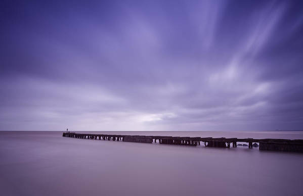 Southwold Art Print featuring the photograph Southwold Harbour Wall by Ian Merton