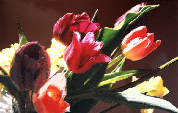 Floral Still Life Art Print featuring the photograph Spring Bouquet by Steve Karol