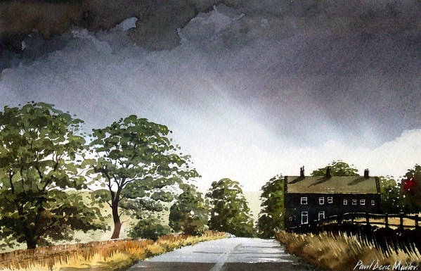 Landscape Art Print featuring the painting Stainland Dean by Paul Dene Marlor